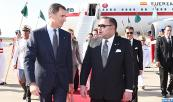 HM King Don Felipe and Queen Dona Letizia of Spain, arrive in Rabat for an official visit to the Kingdom at the invitation of HM King Mohammed VI