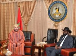 HM King Mohammed VI holds, at the presidential palace in Juba, tête-à-tête talks with President of the Republic of South Sudan, HE. Salva Kiir Mayardit