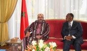 HM King Mohammed VI holds, at the Presidential Palace in Abidjan, a private meeting with president of the Republic of Côte d'Ivoire, H.E. Alassane Ouattara