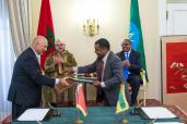 HM the King, Ethiopian PM Launch Project to Build Fertilizer Production Platform in Ethiopia, Chair Signing Ceremony of Several Private/Private Agreements