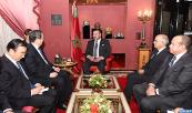 HM King Mohammed VI receives , at the Royal palace of Fes,president of the National Committee of the Chinese People's Political Consultative Conference, Yu Zhengsheng