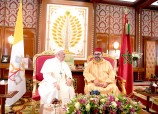 HM the King, Commander of the Faithful, Holds at the Rabat's Royal Palace One-to-One Talks with His Holiness Pope Francis