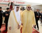 HM King Mohammed VI, accompanied by HRH Prince Moulay Rachid, arrives in Saudi Arabia