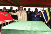 SM el Rey y el presidente gabonés lanzan en Libreville las obras de construcción de un centro de formación profesional en las profesiones del transporte y de la logística