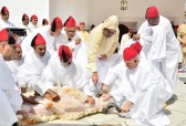 His Majesty King Mohammed VI, Commander of the Faithful, performs the sacrifice ritual