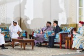 HM King Mohammed VI Holds Meeting with Emir of Qatar HH Sheikh Tamim Bin Hamad Al Thani