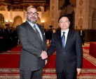 HM King Mohammed VI receives, at Casablanca's Royal Palace, chairman of Chinese group BYD Auto Industry Company Ltd, Wang Chuanfu