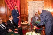 HM King Mohammed VI receives, at the Royal Office in Casablanca, the head of government, the interior minister and the first president of the court of audit, in the presence of HM the King's advisor Fouad Ali El Himma