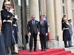 HM King Mohammed VI Received at Elysée by president of the French Republic Emmanuel Macron