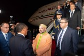 HM King Mohammed VI Arrives in Brazzaville to Take Part in Summit of Climate Commission and Blue Fund of Congo Basin