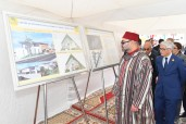 HM King Mohammed VI Lays Foundation Stone of Women and Children Community Centre  in the Mers El Kheir commune (Prefecture Skhirate-Temara), Hands Equipment to Project Holders