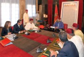HM King Mohammed VI chairs at the Rabat Royal Palace a meeting dedicated to the issue of water