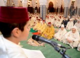 HM King Mohammed VI, Commander of the Faithful, chairs at Hassan Mosque in Rabat religious ceremony to commemorate Laylat Al Qadr