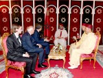 HM King Mohammed VI receives at the Marchane Palace in Tangier José Luis Rodriguez Zapatero, former head of the Spanish Government, and Miguel Angel Moratinos, former Spanish Minister of Foreign Affairs and Cooperation