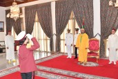 Throne Day: HM King Mohammed VI receives, at the officers mess hall of the Royal Guard in Tetouan, the Best Wishes of Royal Armed Forces
