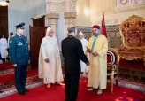 HM King Mohammed VI receives at Rabat's royal palace several foreign ambassadors who came to present their credentials to the Sovereign as plenipotentiary and extraordinary ambassadors of their countries to the Kingdom