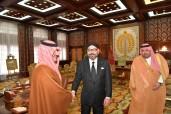 HM King Mohammed VI receives, at Rabat royal palace, Saudi Arabia's Interior minister, HRH Prince Abdulaziz bin Saud bin Nayef bin Abdulaziz