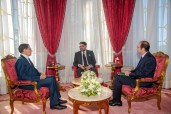 HM King Mohammed VI receives, at the Royal Palace in Rabat, the head of government and the minister of Health