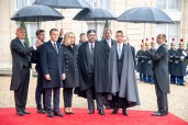 HM King Mohammed VI Arrives in Elysee Palace to Take Part in International Ceremony in Commemoration of Centenary of Armistice dated Nov. 11, 1918
