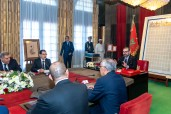 HM King Mohammed VI chairs, at the Rabat royal palace, a working session to monitor the upgrading and modernization of the sector of vocational training