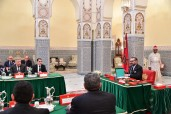 HM King Mohammed VI chairs at the royal Palace in Marrakech a council of ministers
