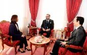 HM King Mohammed VI receives, at Rabat royal palace, Dounia Ben Abbas Tâarji, new president of the board of directors of the Hassan II Fund for Economic and Social Development