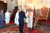 HM King Mohammed VI receives at Rabat royal palace several foreign ambassadors
