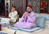 HM King Mohammed VI, Commander of the Faithful,  chairs at Rabat's Royal Palace the seventh religious lecture of the holy month of Ramadan