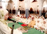 HM King Mohammed VI, Commander of the Faithful, chairs at the Hassan Mosque in Rabat a religious ceremony to commemorate Laylat Al Qadr