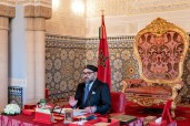 HM King Mohammed VI chairs, at Rabat royal palace, a council of ministers