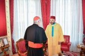 HM King Mohammed VI receives, at the Rabat Royal Palace, Cardinal Cristobal Lopez Romero, Archbishop of Rabat