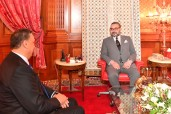 HM King Mohammed VI receives, at the Royal Palace of Casablanca, Abdellatif Ouahbi following his election as Secretary General of the Authenticity and Modernity Party (PAM)