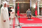 HM King Mohammed VI receives, at the Royal Palace of Casablanca, the four new members appointed to the Constitutional Court