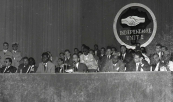 His Royal Highness Prince Moulay Hassan at the opening session of the Panafrican labor Confederation - Casablanca, 1961