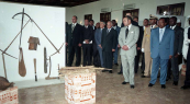 HM King Mohammed VI visiting the National Museum of Cameroon - Yaoundé, 2004
