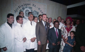 HM King Mohammed VI and President Omar Bongo inaugurated a medical clinic - Libreville, 2004