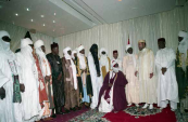 His Majesty King Mohammed VI receiving the representatives of Islamic communities of the Niger - Niamey, 2004
