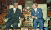 His Majesty King Hassan II meeting with Mr. Nelson Mandela the leader of African National Congress - Rabat, 1992