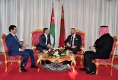HM King Mohammed VI Holds, in the Royal Cabinet in Rabat, Talks with HM King Abdullah II of Jordan