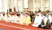 HM King Mohammed VI, Commander of the Faithful, performs Friday Prayer in Sultan Ben Zayed I Mosque in Abu Dhabi