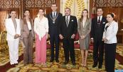 HM King Mohammed VI decorates HM King Felipe VI and Queen Letizia of Spain with Wissam Al Mohammadi