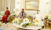 HM King Mohammed VI Pays Courtesy Visit to Saudi King at his Residence in Tangier