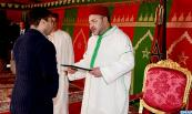 "HM King Mohammed VI dedicates in the urban commune of Dar Bouazza (Province of Nouaceur), near Casablanca, the 2nd part of ""Al Amal"" real estate project, comprising 1,000 low cost housing units"