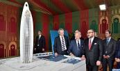 Salé (Rabat Twin-city): HM the King Launches Construction Works of 45-Storey Tower in Bouregreg Valley