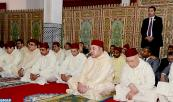 HM King Mohammed VI performs Friday prayer in Ain Allah Mosque in Moulay Yacoub