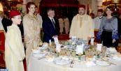 HM the King Offers Official Dinner in Honor of HM King Abdullah II, Queen Rania of Jordan