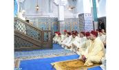 His Majesty King Mohammed VI, Commander of the Faithful,  performs Friday prayer in Mohammed VI Mosque in M'diq