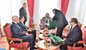 HM King Mohammed VI receives, in Rabat Royal Palace, the head of government, the interior minister, the minister of economy and finance and the first president of the revenue court