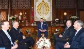 HM King Mohammed VI receives, at the Royal Palace in Rabat, French Foreign Minister Laurent Fabius