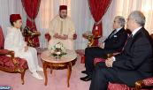HM King Mohammed VI receives, at the Royal palace of Rabat, Nizar Baraka, chairman of Economic, Social and Environmental Council, and Abdellatif Jouahri, governor of Bank Al Maghrib